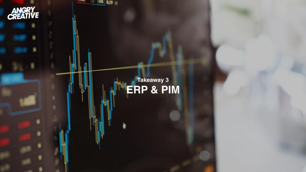 Takeaway 3 ERP & PIM