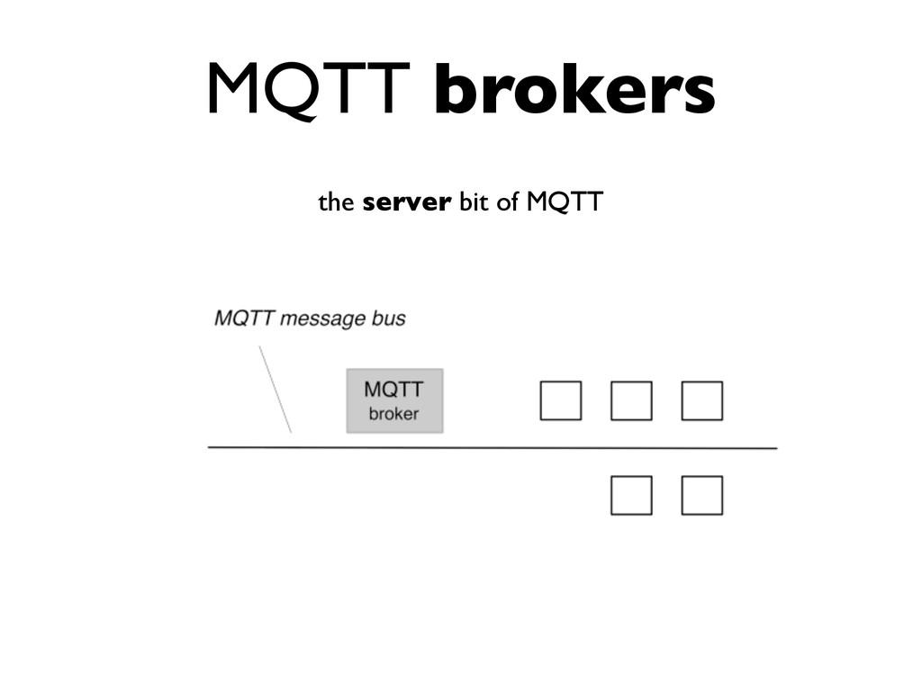 MQTT brokers the server bit of MQTT