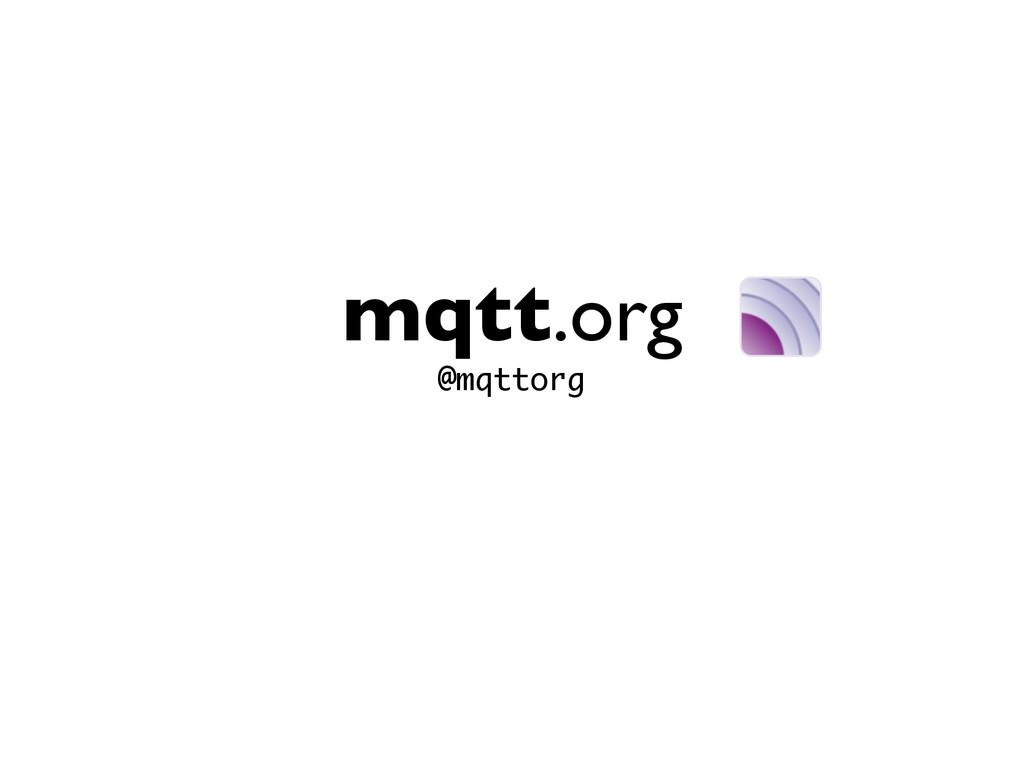 mqtt.org @mqttorg