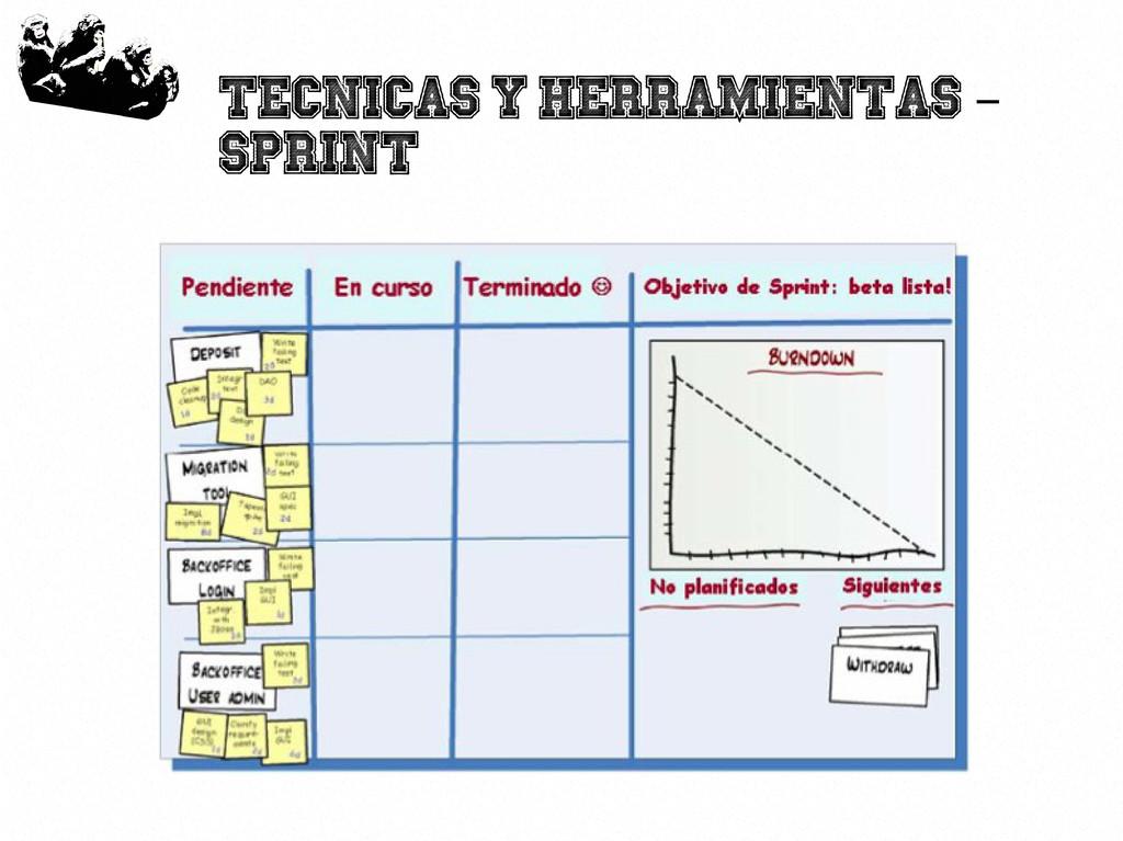 47 Tecnicas y herramientas – Sprint