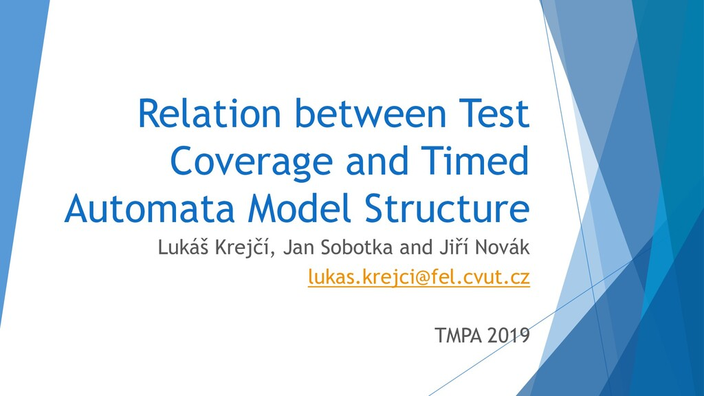Relation between Test Coverage and Timed Automa...