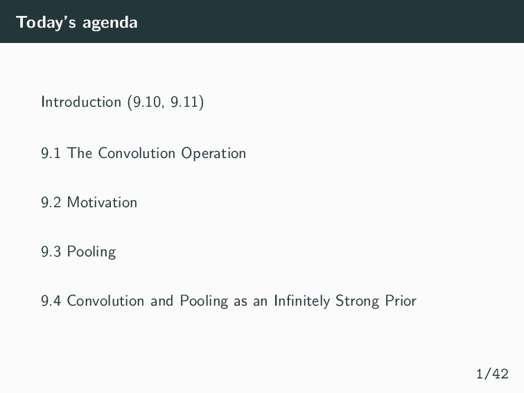 Today's agenda Introduction (9.10, 9.11) 9.1 Th...