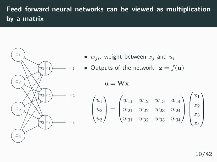 Feed forward neural networks can be viewed as m...