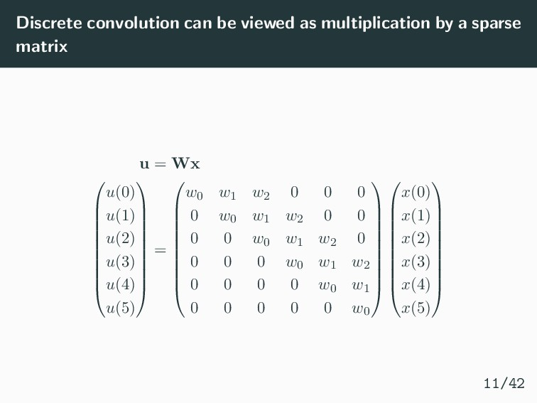 Discrete convolution can be viewed as multiplic...