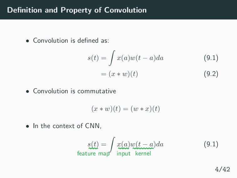 Definition and Property of Convolution • Convolu...