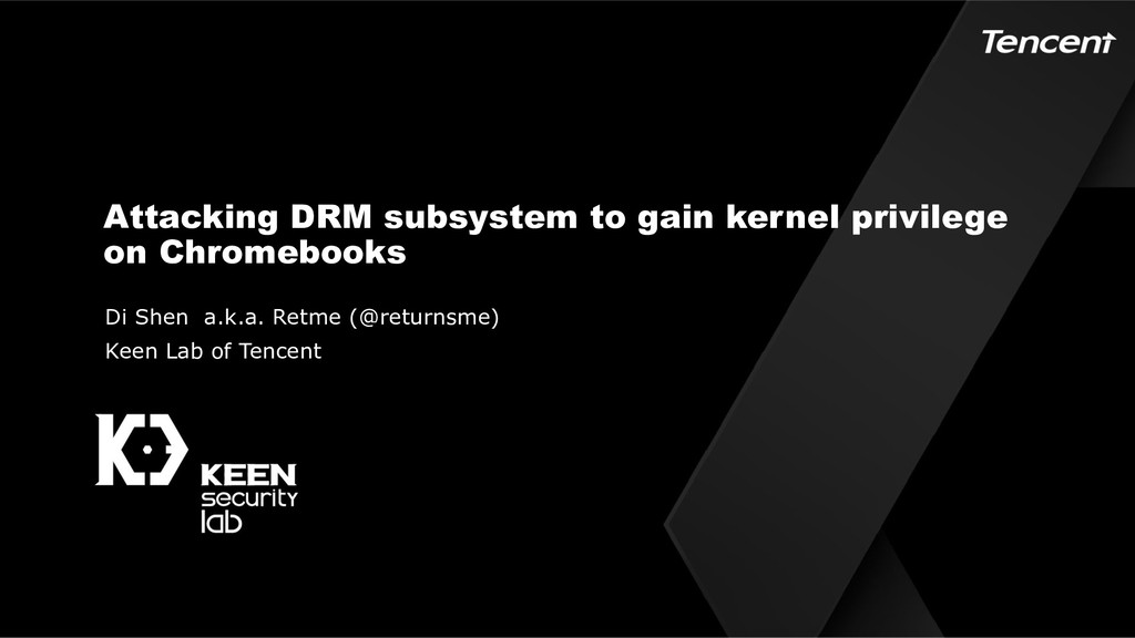 Attacking DRM subsystem to gain kernel privileg...
