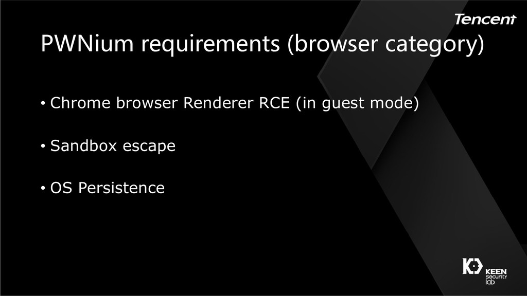 ) ( ( • Chrome browser Renderer RCE (in guest m...