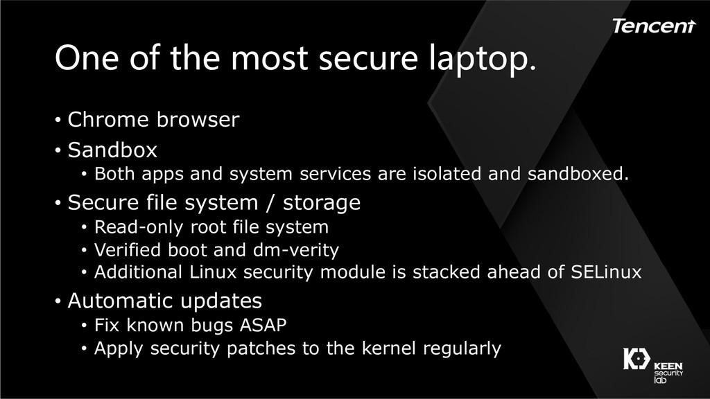 • Chrome browser ...