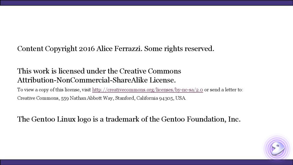 Content Copyright 2016 Alice Ferrazzi. Some rig...