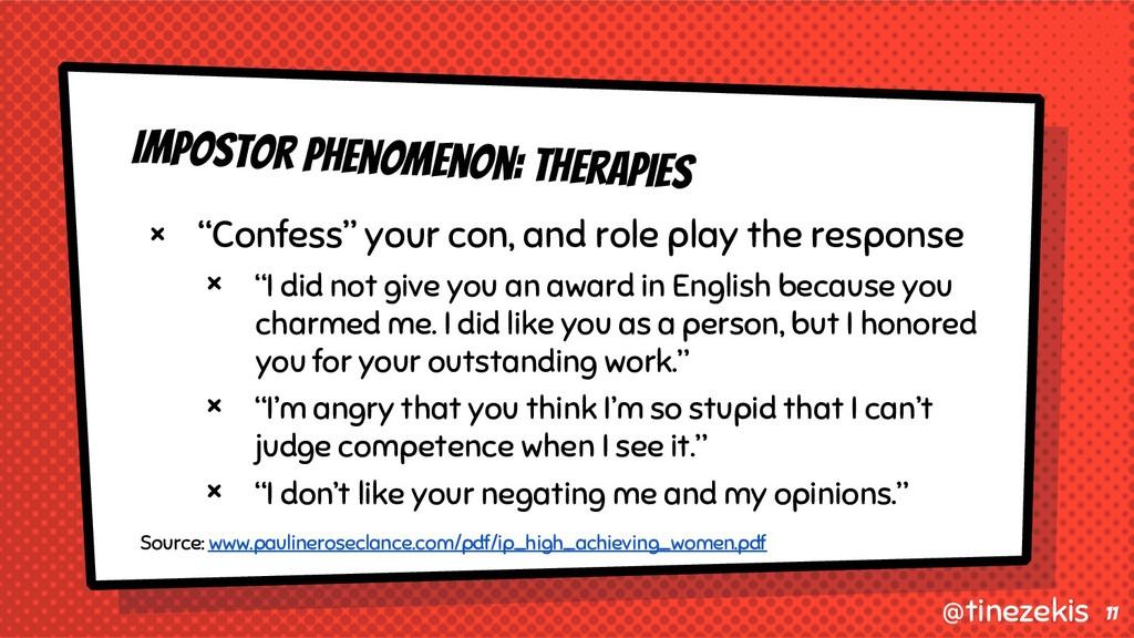 "Impostor Phenomenon: Therapies × ""Confess"" your..."