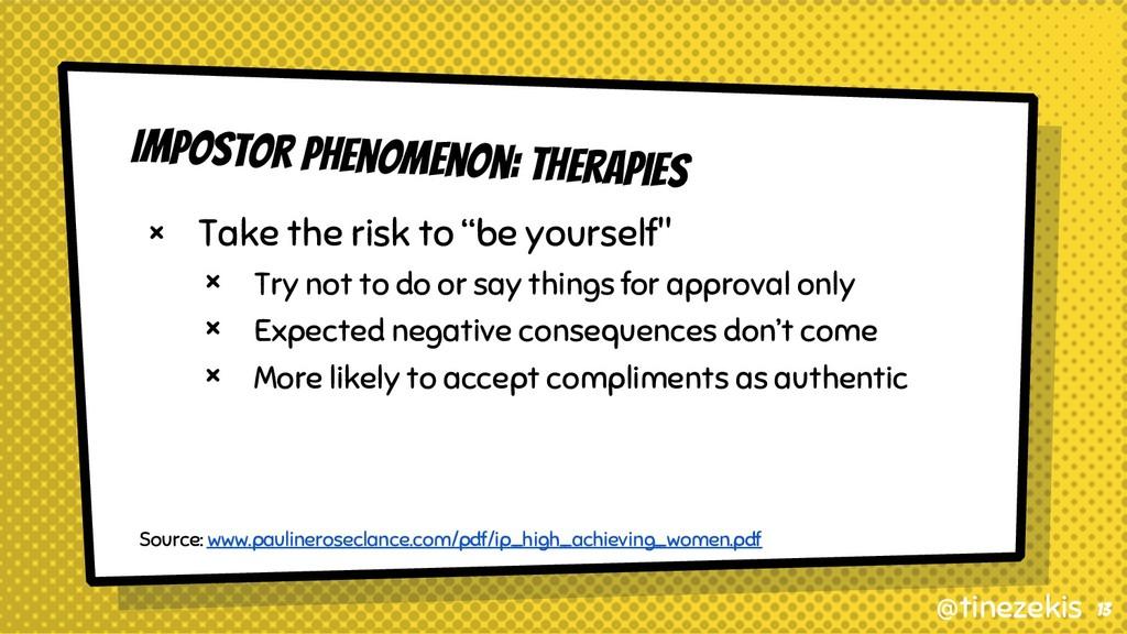 Impostor Phenomenon: Therapies × Take the risk ...
