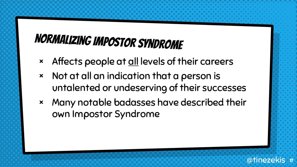 Normalizing Impostor Syndrome × Affects people ...