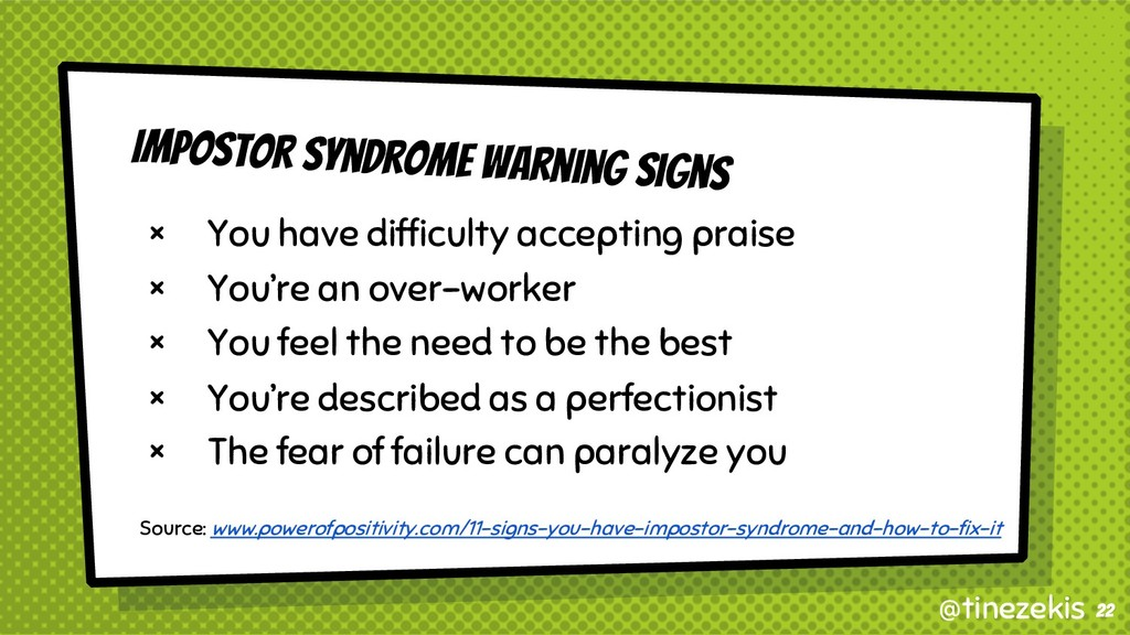 Impostor Syndrome Warning Signs × You have diff...