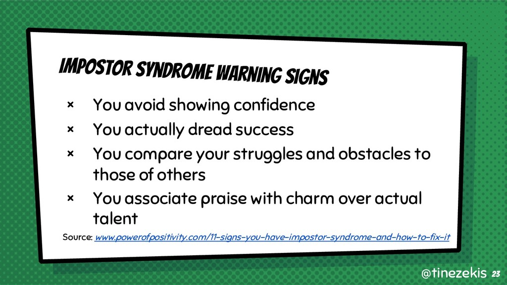 Impostor Syndrome Warning Signs × You avoid sho...