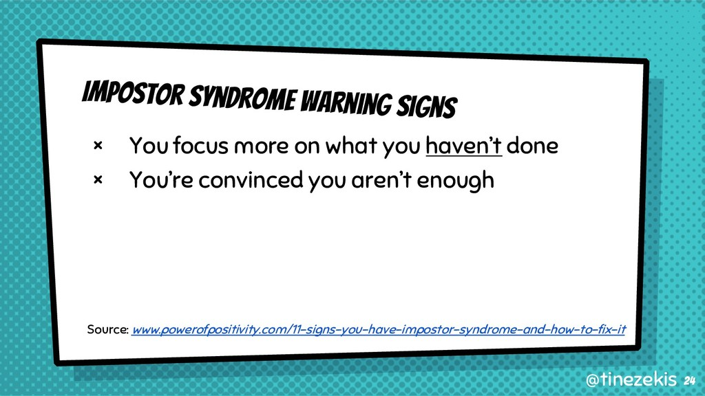Impostor Syndrome Warning Signs × You focus mor...