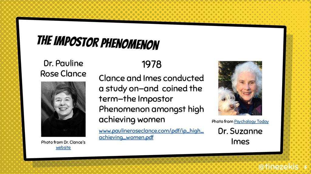 The Impostor Phenomenon Dr. Pauline Rose Clance...