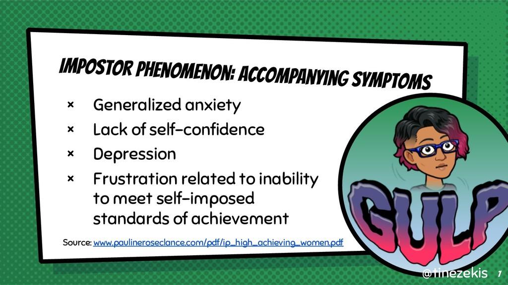Impostor Phenomenon: Accompanying Symptoms × Ge...