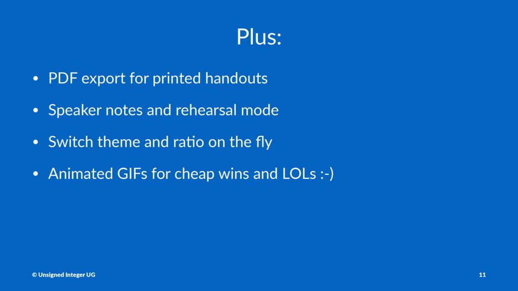 Plus: • PDF export for printed handouts • Speak...
