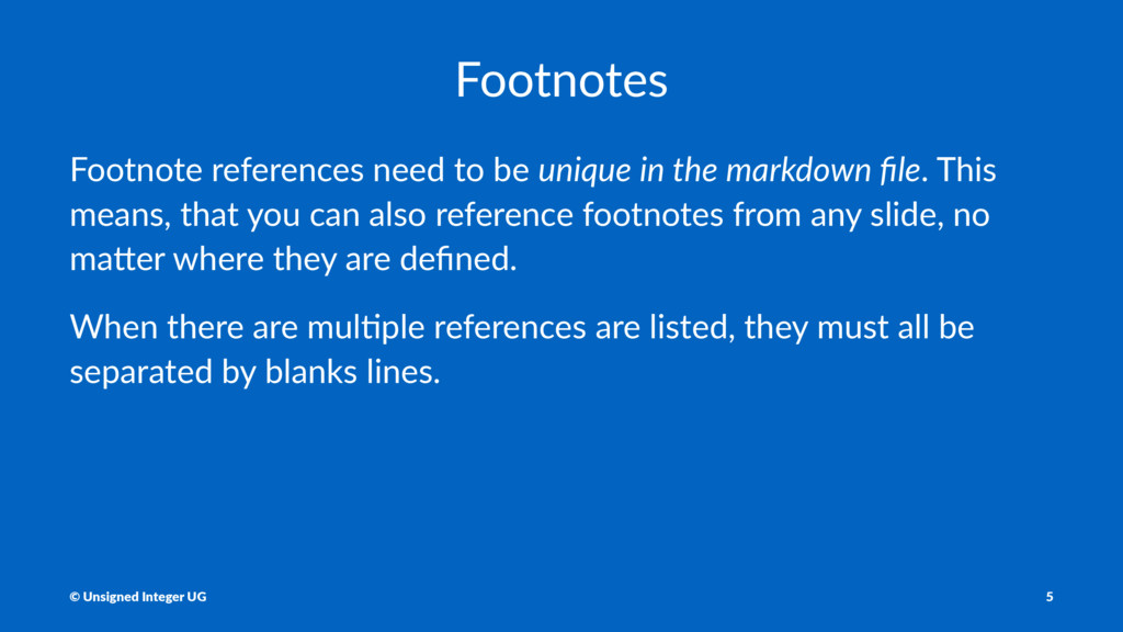 Footnotes Footnote references need to be unique...