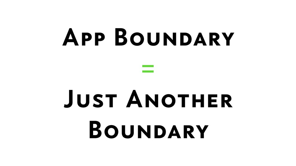 App Boundary  =  Just Another Boundary