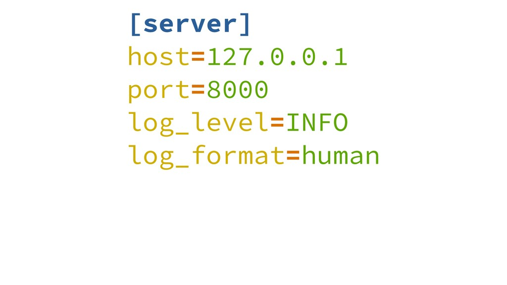[server] host=127.0.0.1 port=8000 log_level=INF...