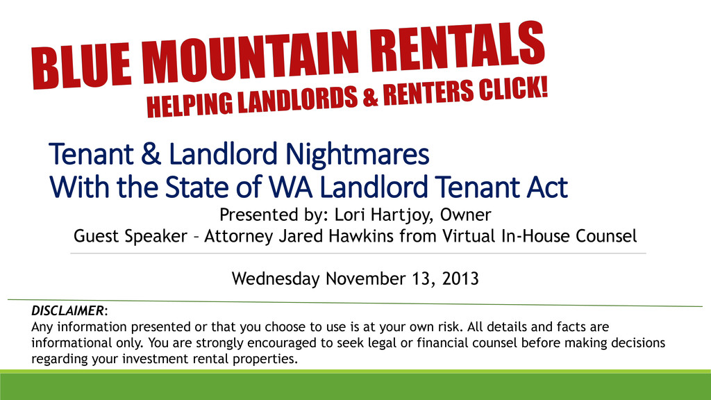 Tenant & Landlord Nightmares With the State of ...