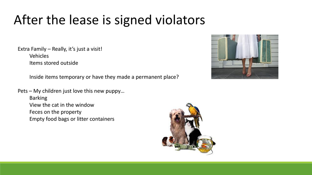 After the lease is signed violators Extra Famil...
