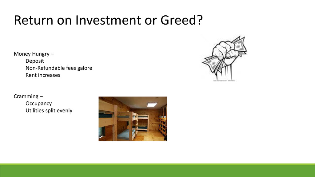 Return on Investment or Greed? Money Hungry – D...