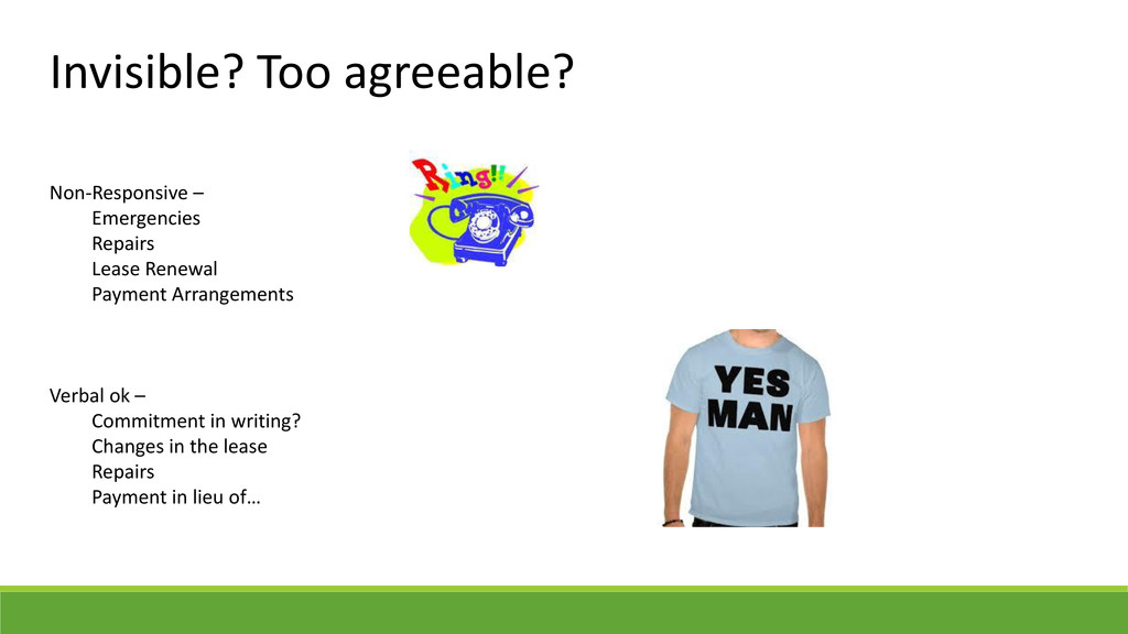 Invisible? Too agreeable? Non-Responsive – Emer...