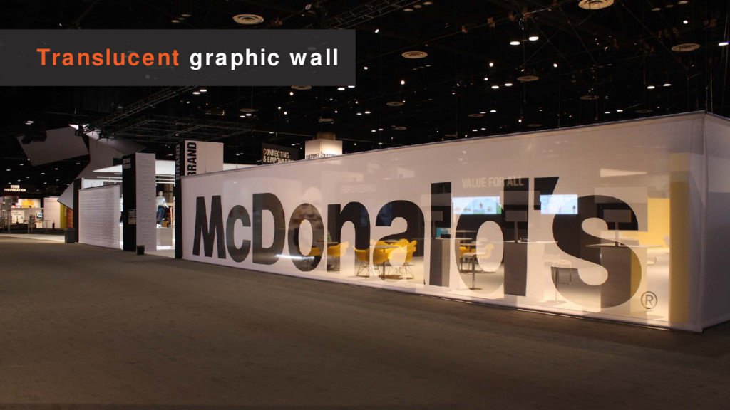 Translucent graphic wall