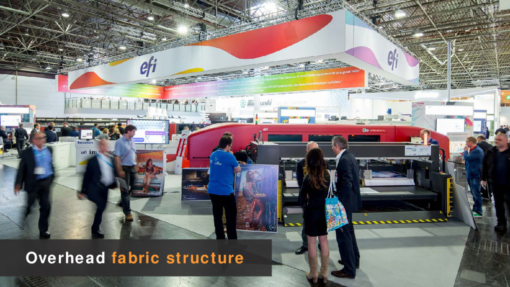 Overhead fabric structure