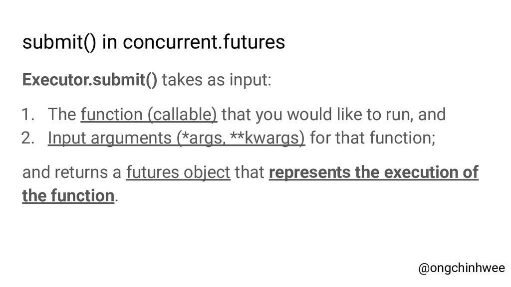 submit() in concurrent.futures Executor.submit(...