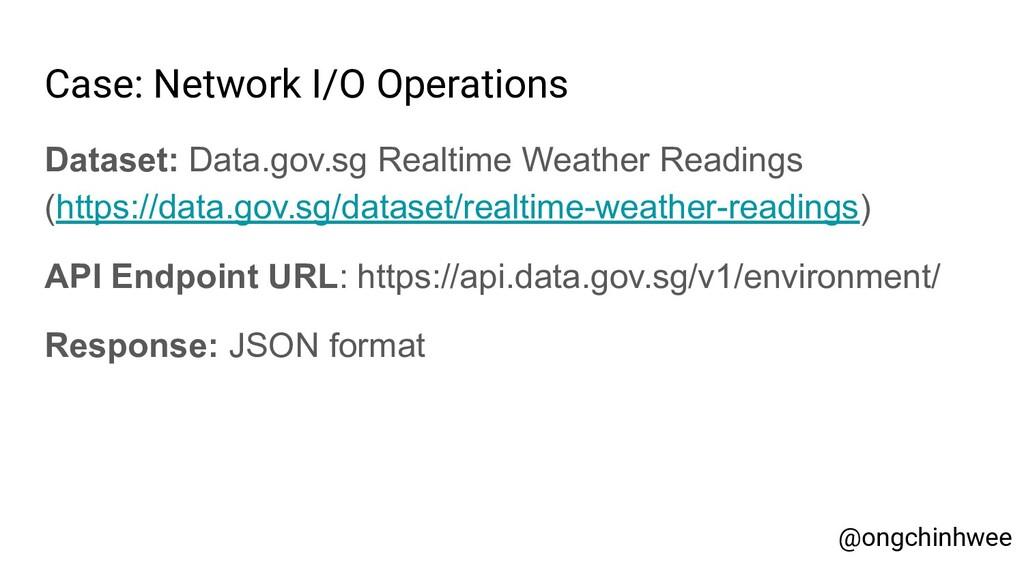 Case: Network I/O Operations Dataset: Data.gov....