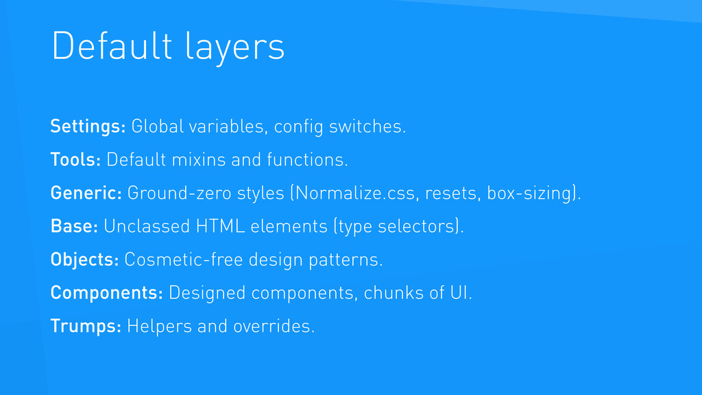 Default layers Settings: Global variables, confi...