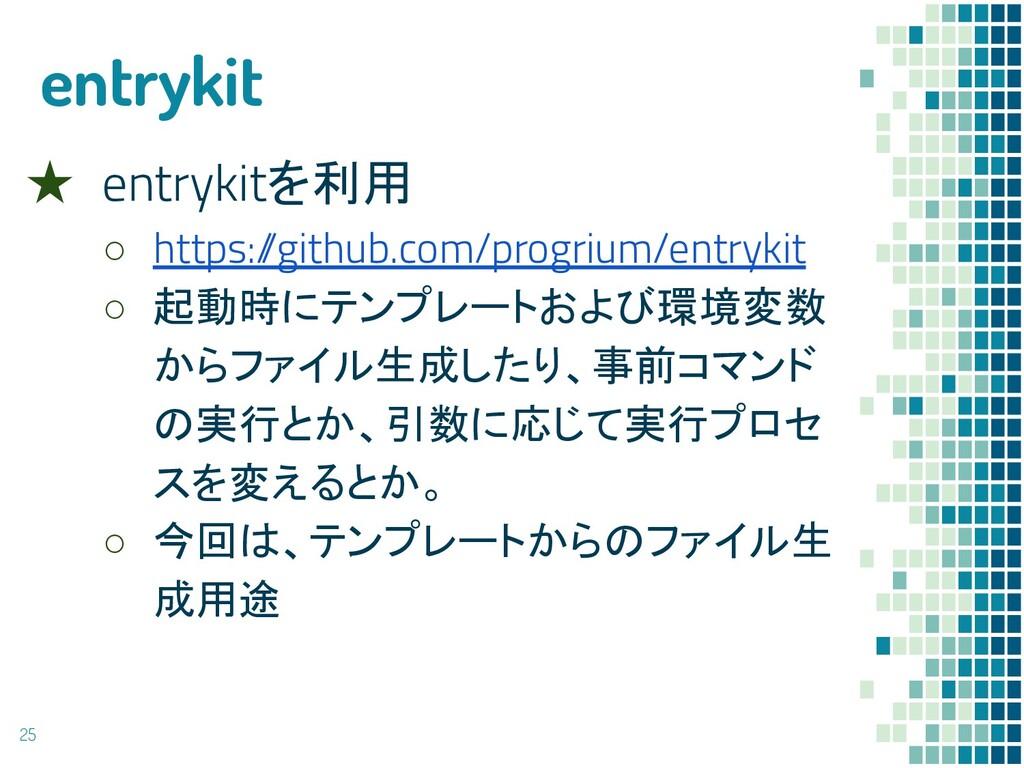 entrykit ★ entrykitを利用 ○ https:/ /github.com/pr...