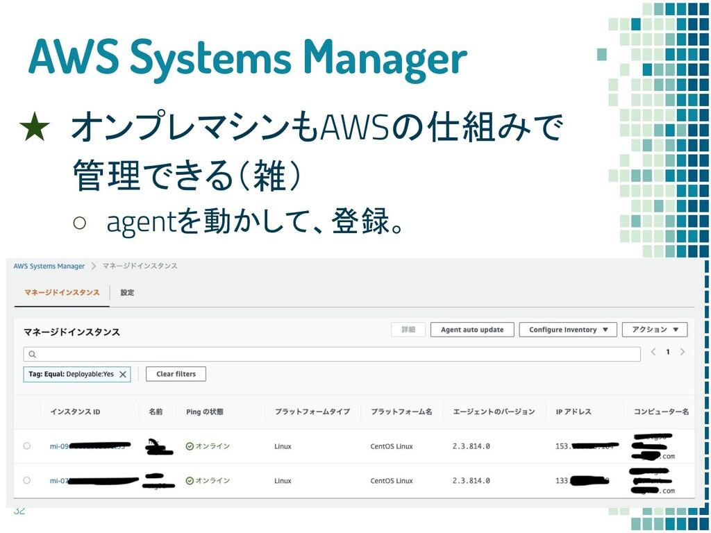 AWS Systems Manager ★ オンプレマシンもAWSの仕組みで 管理できる(雑)...