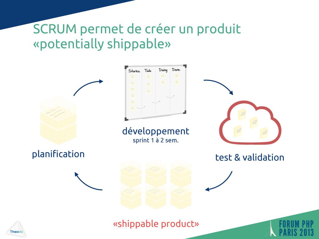SCRUM permet de créer un produit «potentially s...