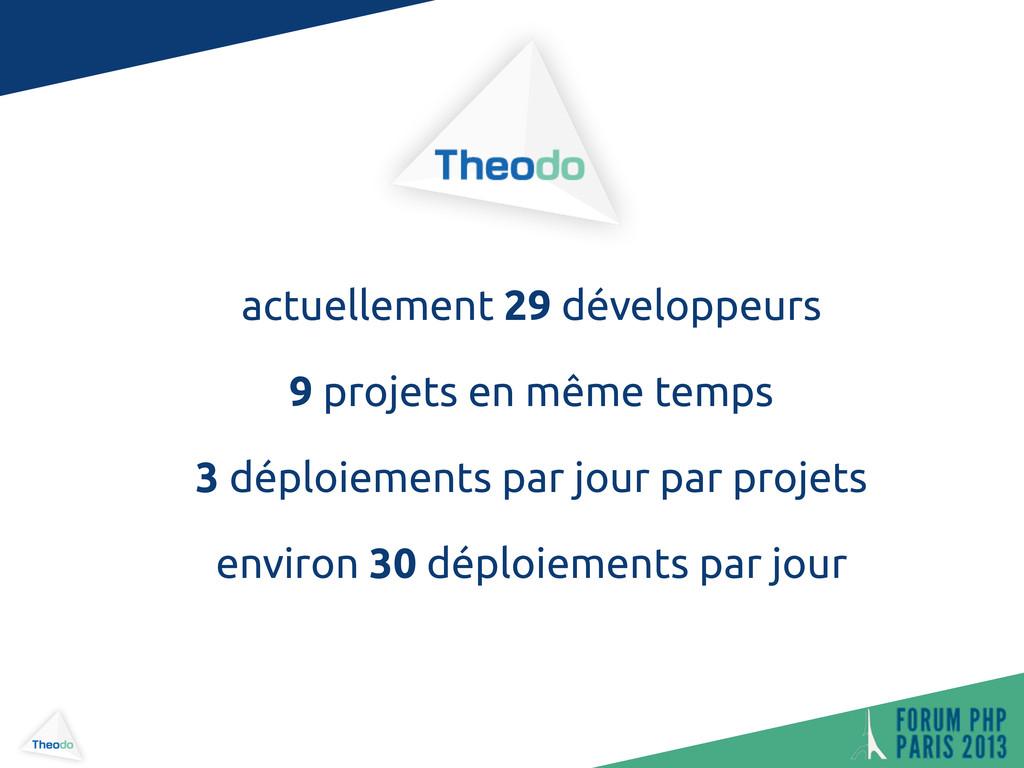 actuellement 29 développeurs 9 projets en même ...