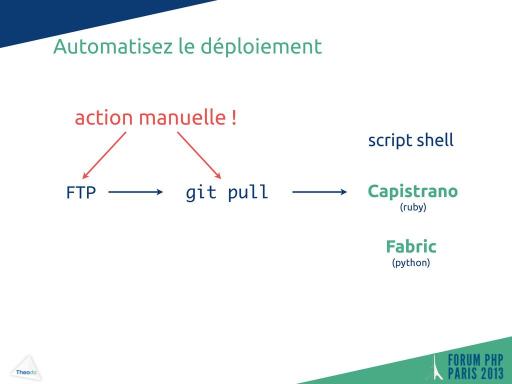 Automatisez le déploiement git pull FTP Capistr...