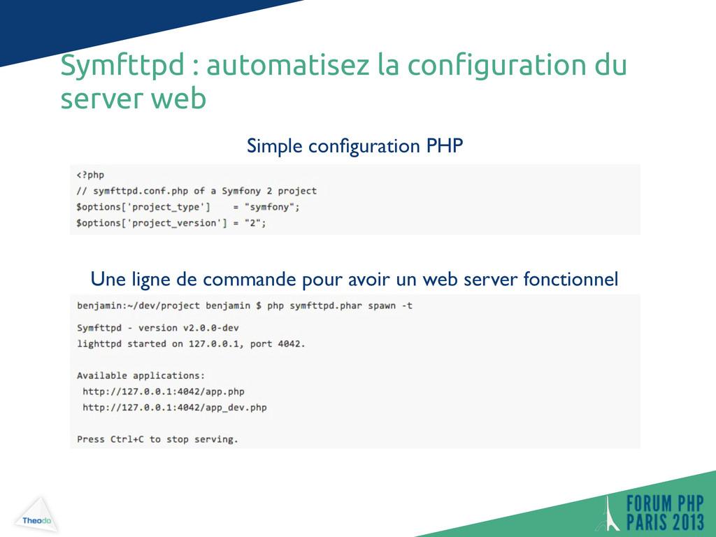 Simple configuration PHP Une ligne de commande p...