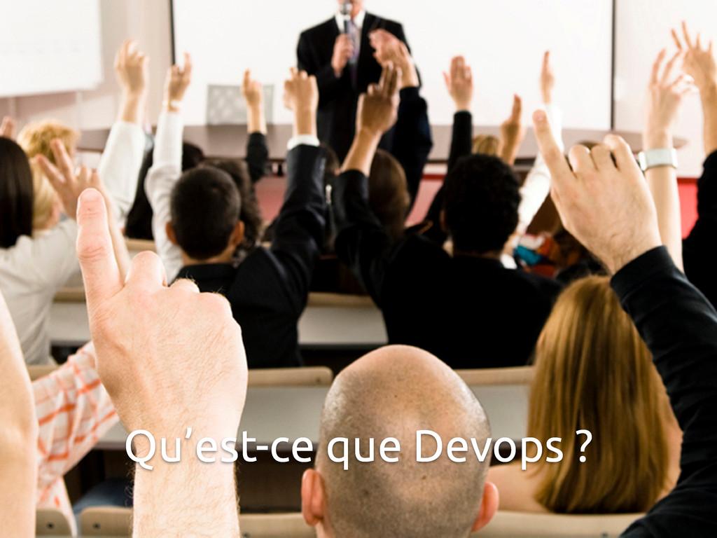 Qu'est-ce que Devops ?