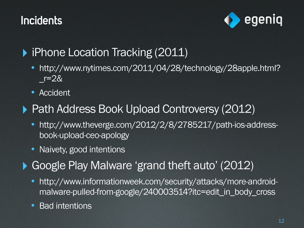 Incidents ‣ iPhone Location Tracking (2011) • h...