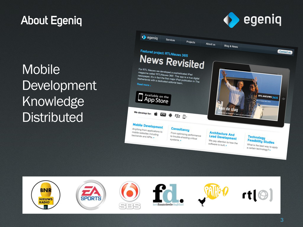 About Egeniq Mobile Development Knowledge Distr...