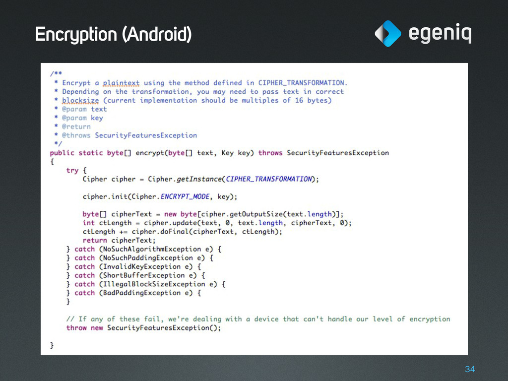 Encryption (Android) 34