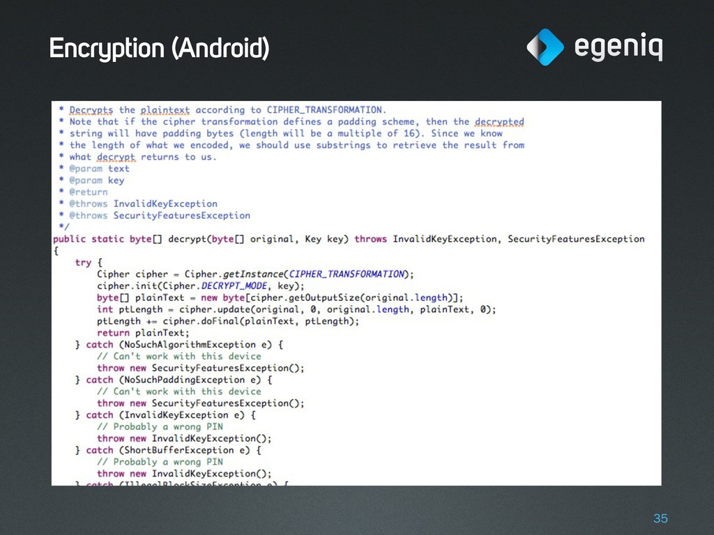 Encryption (Android) 35