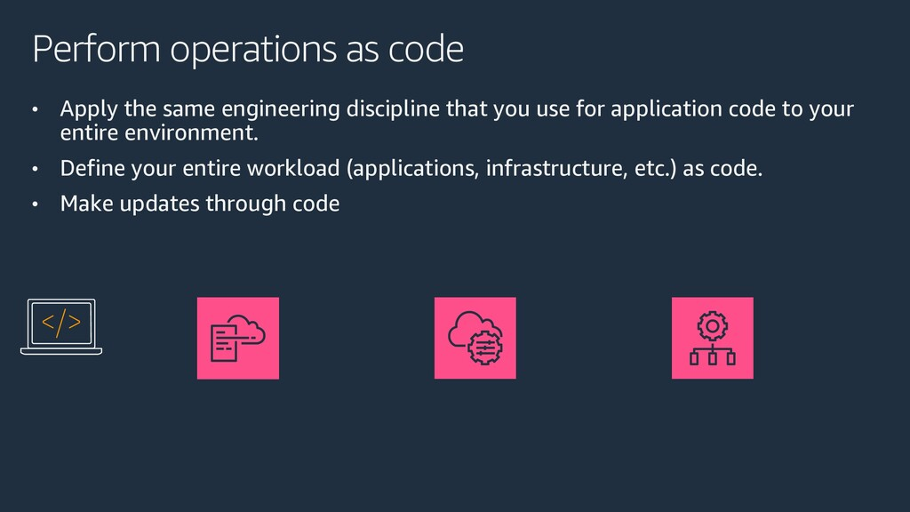 Perform operations as code • Apply the same eng...