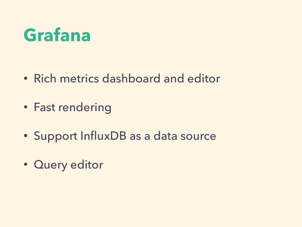 Grafana • Rich metrics dashboard and editor • F...
