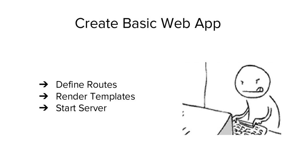 Create Basic Web App ➔ Define Routes ➔ Render T...
