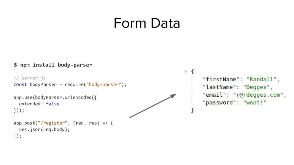 $ npm install body-parser // server.js const bo...