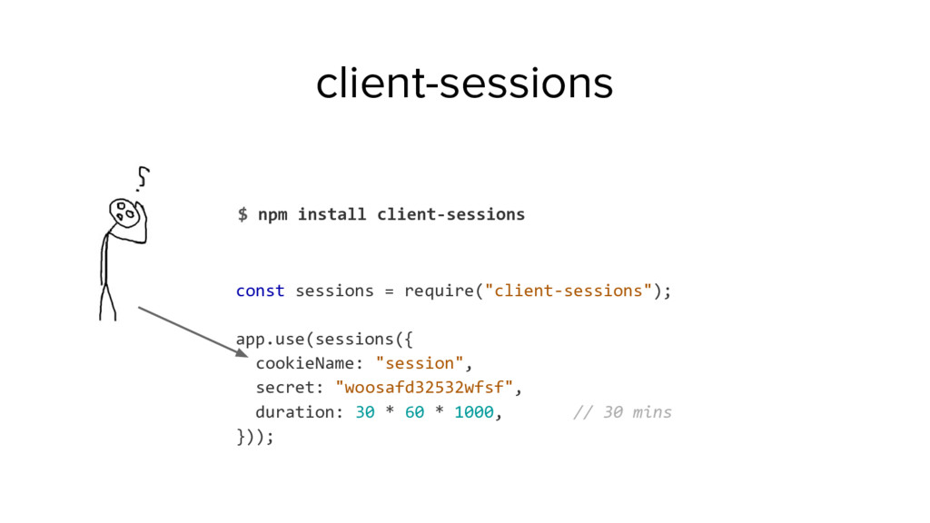 client-sessions $ npm install client-sessions c...